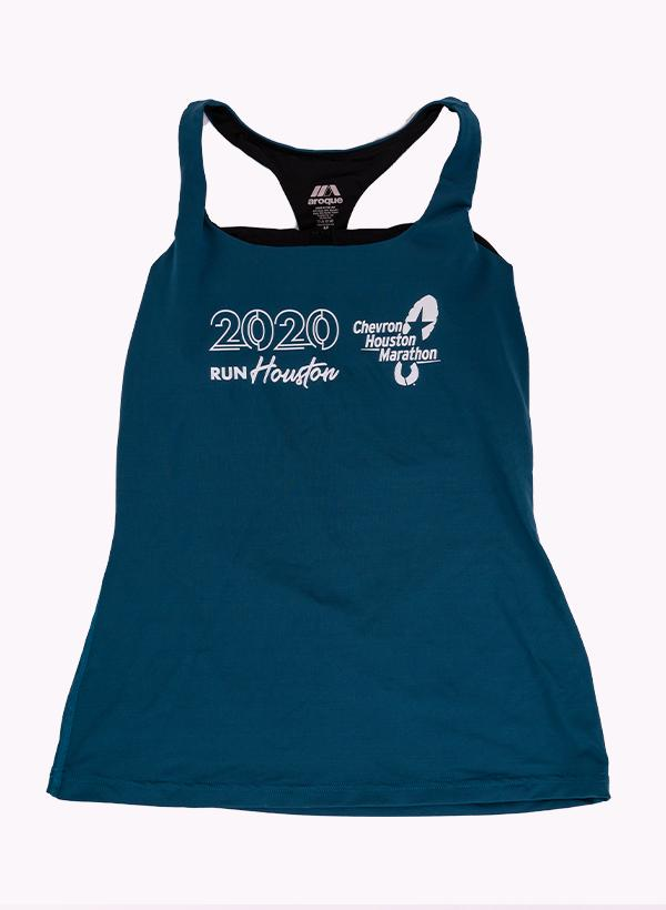 Houston Women's Full or Half Teal Blue Marathon Race Tank