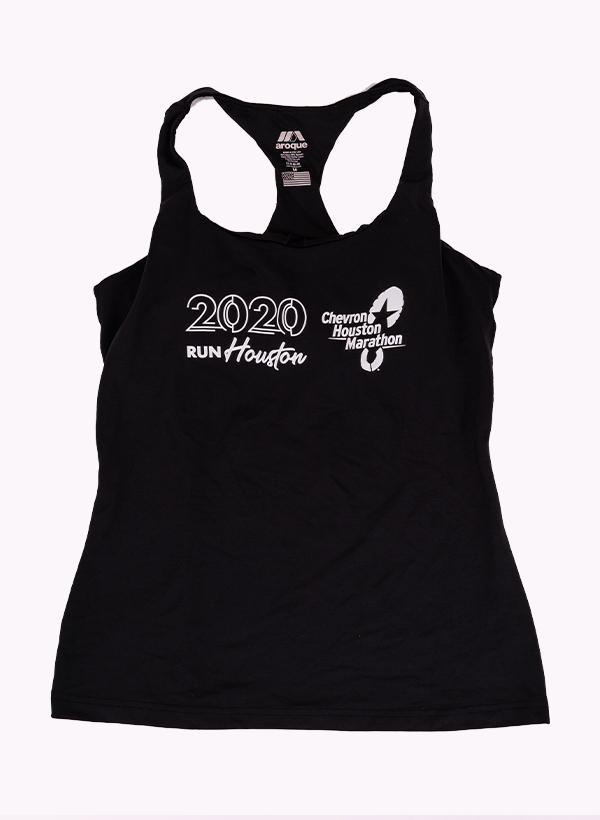 Houston Women's Full or Half Marathon Black Race Tank