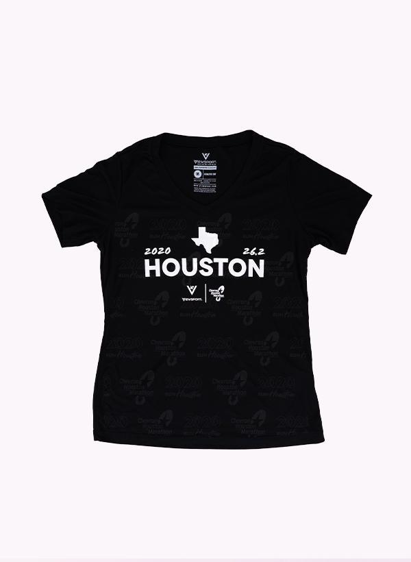Houston Marathon Women's Black 26.2 Short Sleeve Shirt