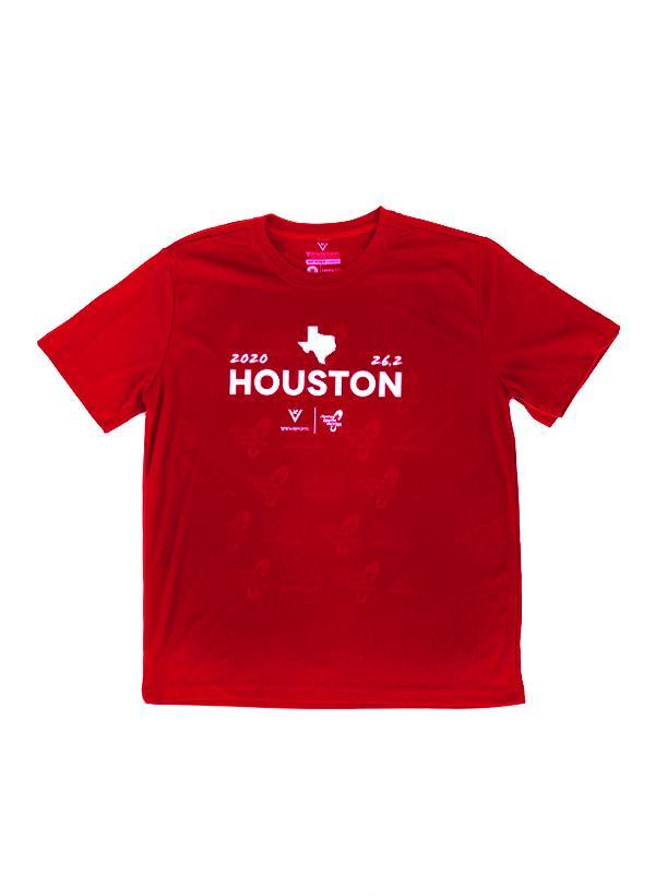 Houston Marathon Men's Red Houston 26.2 Short Sleeve Shirt