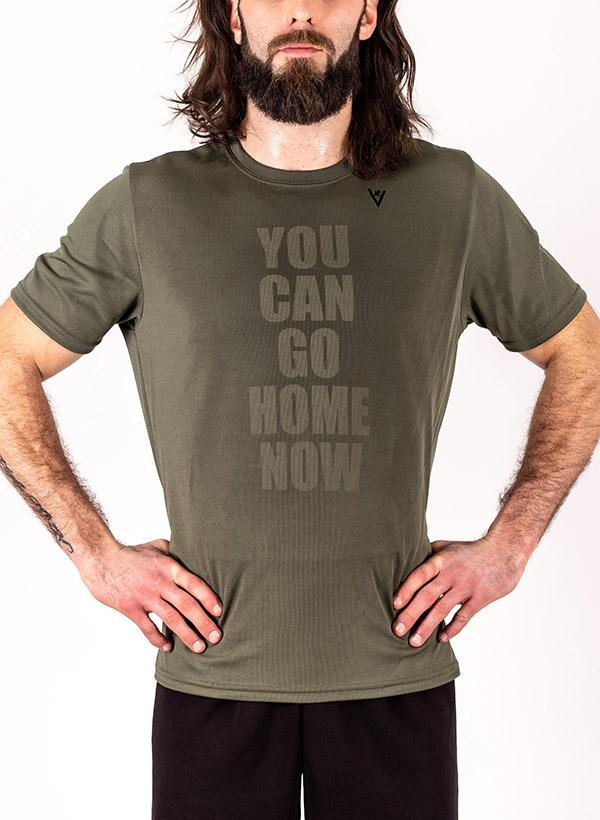 "Men's ""YOU CAN GO HOME NOW"" Short Sleeve Crew Neck Shirt"