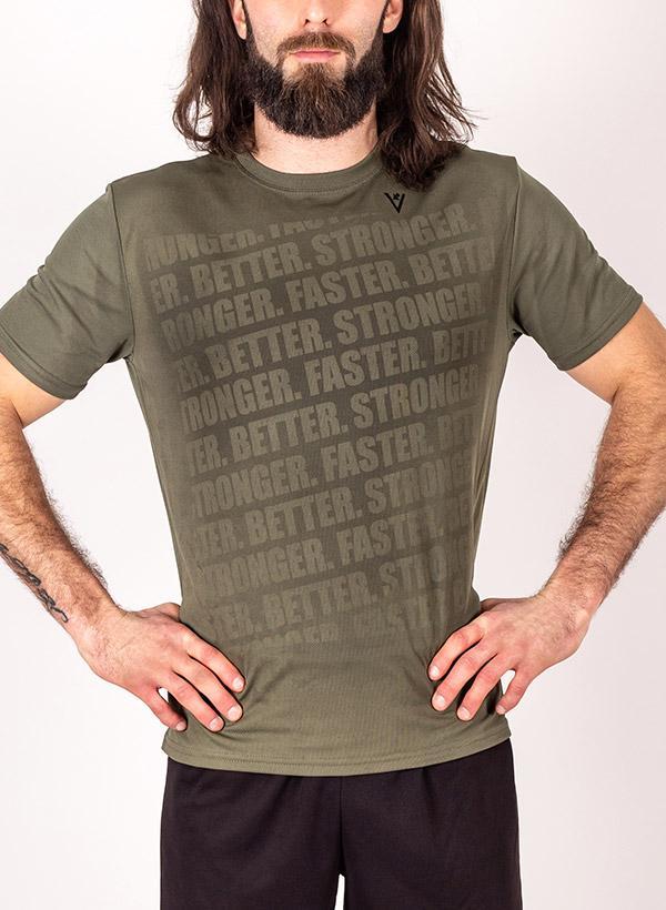 """Men's """"Faster, Better, Stronger"""" Short Sleeve Crew Neck Shirt"""