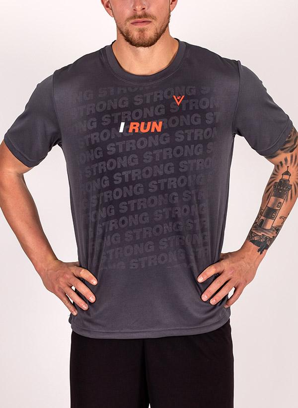 "Men's ""I Run"" Short Sleeve Crew Neck Shirt"