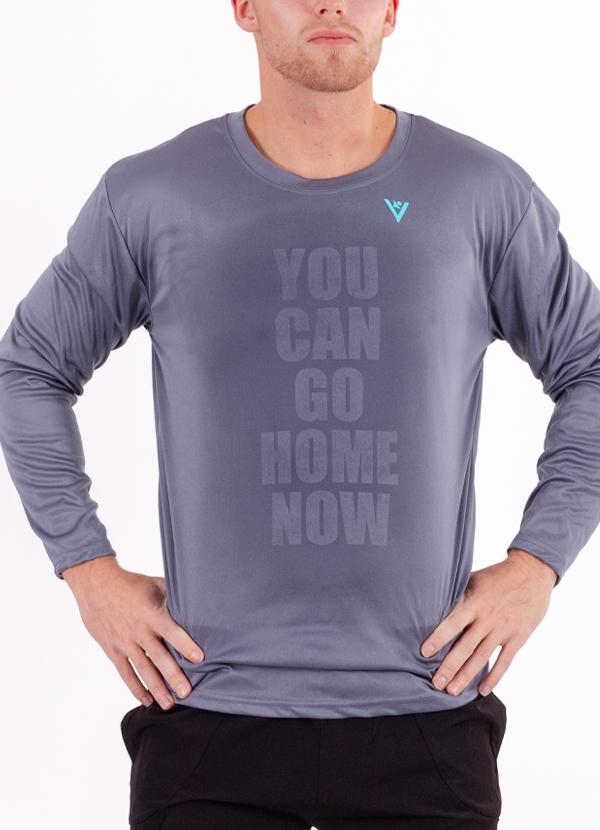 "Men's ""YOU CAN GO HOME NOW"" Long Sleeve Crew Neck Shirt"