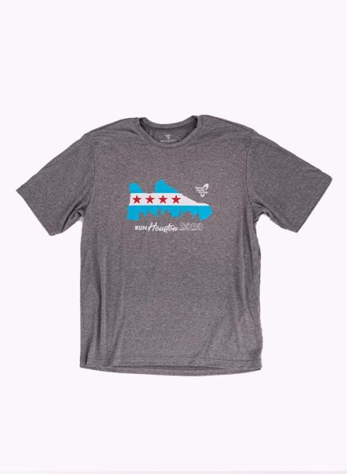 Houston Marathon Men's Grey 26.2 Short Sleeve Shirt