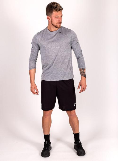 "Men's ""Work Hard"" Long Sleeve Crew Neck Shirt"