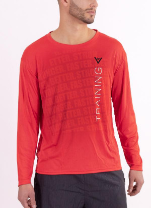 "Men's ""Training"" Long Sleeve Crew Neck Shirt"