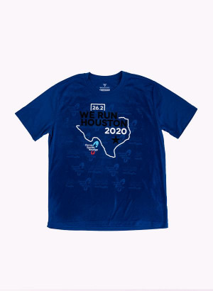 Houston Marathon Men's Blue/Color 26.2 Short Sleeve Shirt