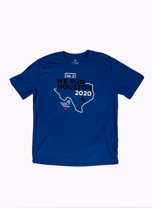 Houston Marathon Men's Blue/Color 26.2 Short Sleeve Shirt