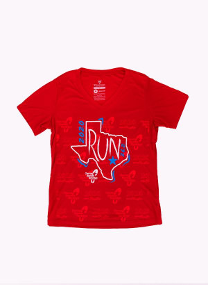 Houston Marathon Women's Red Run 26.2 Short Sleeve Shirt