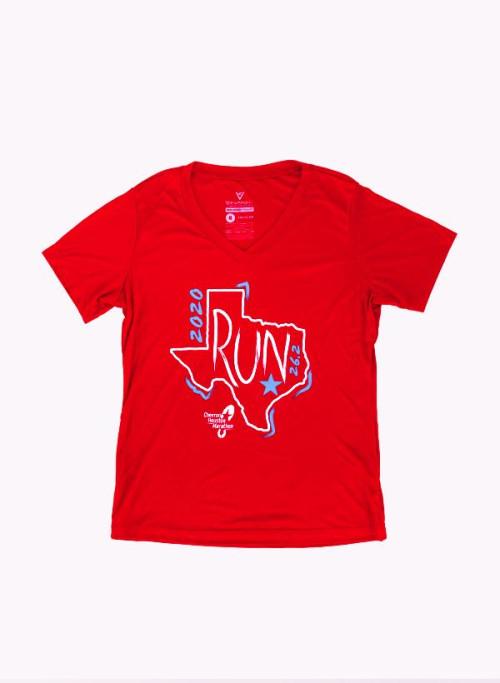 Houston Marathon Women's Red Run 26.2 Short Sleeve Shirt