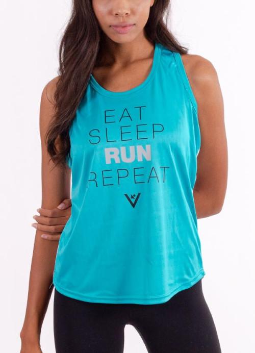 "Women's ""Eat, Sleep, Run, Repeat"" Performance Tank"