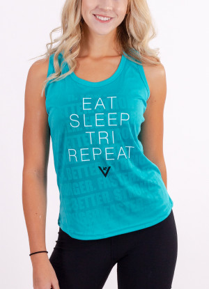 "Women's ""Eat, Sleep, Tri, Repeat"" Performance Tank"