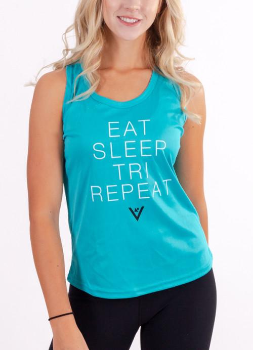 "Women's ""Eat, Sleep, Tri, Repeat"" Performance Tank"