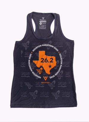 Houston Marathon Women's Grey/Orange 26.2 Singlet/Tank