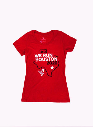 Houston Marathon Women's Red 26.2 Short Sleeve Shirt