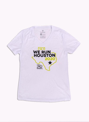 Houston Marathon Women's White 13.1 Short Sleeve Shirt
