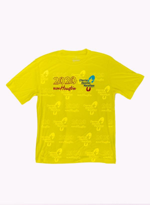 Houston Marathon Men's Orbit Yellow 26.2 Short Sleeve Shirt