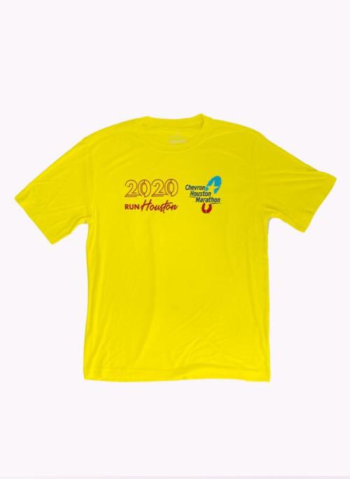 Houston Marathon Men's Orbit Yellow 26.2 Short Sleeve Shirt
