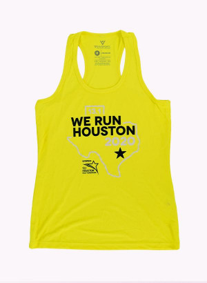 Houston Marathon Women's Orbit Yellow 13.1 Singlet/Tank