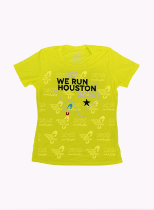 Houston Marathon Women's Orbit Yellow 26.2 Short Sleeve Shirt