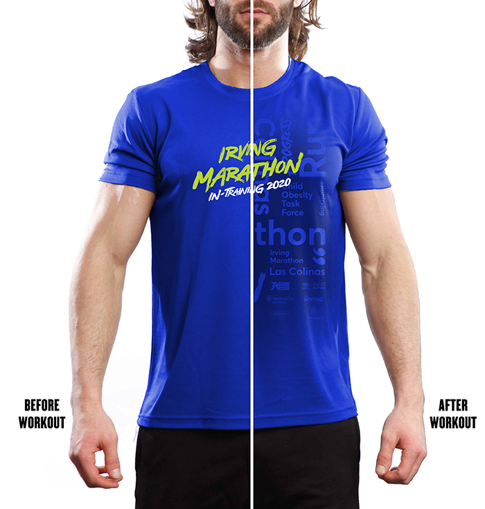 Blue Irving Marathon Shirt