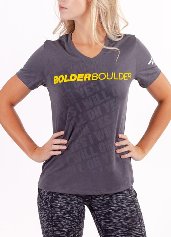 BOLDERBoulder Women's 2020 Short Sleeve V Neck Shirt