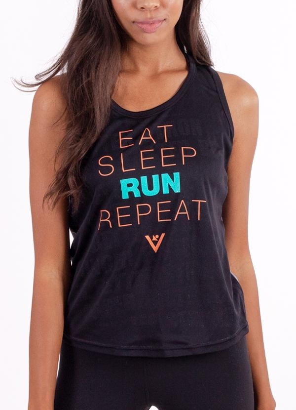 "Women's ""Eat, Sleep, Run, Repeat"" Performance Tank"