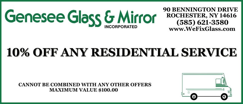 Residential Glass Coupon Rochester NY
