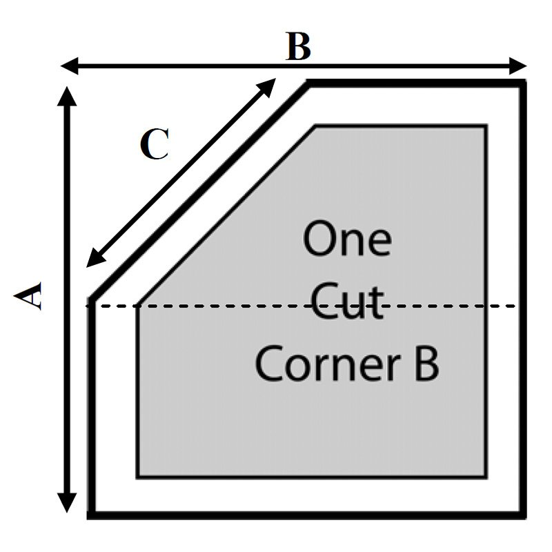 Dimension 1 1 Cut Corner - B Hot Tub Cover