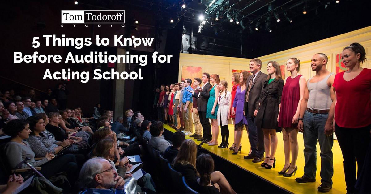 5 Things to Know Before Auditioning for Acting School
