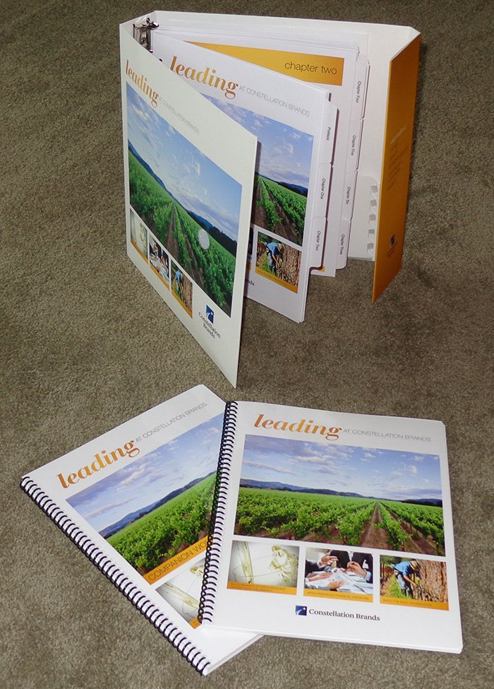 Custom Printed Binder Training Manuals