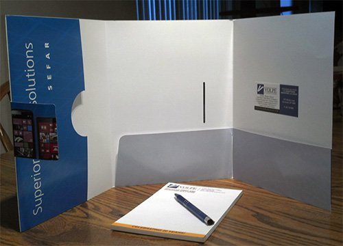 Custom Printed Tri-Panel Folder