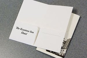 105 Two Pockets - Hotel Key Card Pocket Folders