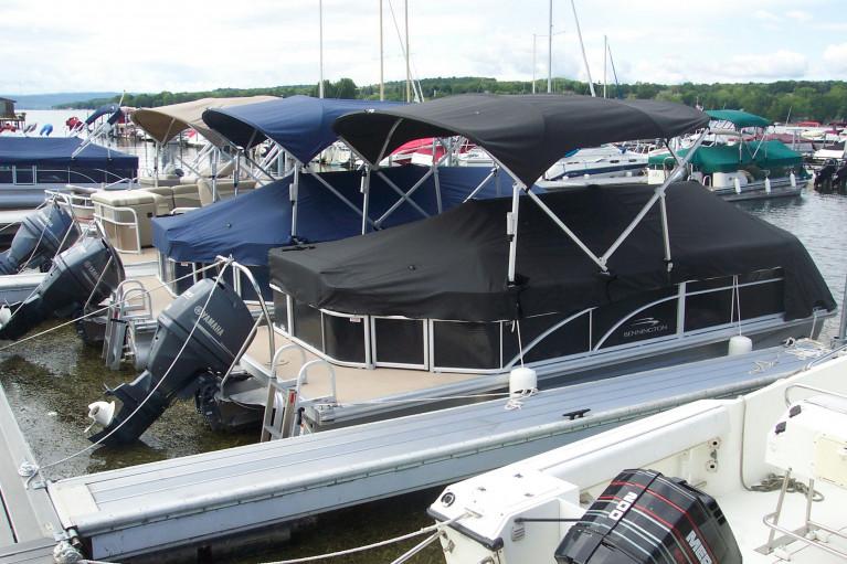 2012 BENNINGTON 22 SLX W/ F90 YAMAHA O/B & ELLIPTICAL TUBE PACKAGE