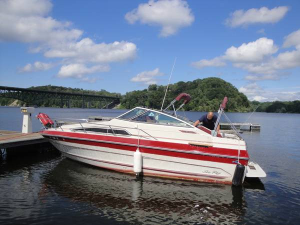 1988 23' SEA RAY WEEKENDER CUDDY CABIN W/ MERC V8 I/O & TRAILER