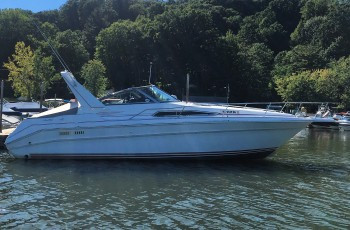 1990 SEA RAY 310 CRUISER W/ TWIN I/B TUNNEL DRIVE MERC 350 I/O'S
