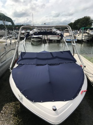 2007 FOUR WINNS 196 HORIZON OPEN BOW W/ 4.3 VOLVO V6 I/O & TRAILER