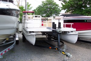 1980 HARRIS 20' PONTOON BOAT MERCURY 4-STROKE 60HP BIGFOOT & 2012 TRAILER