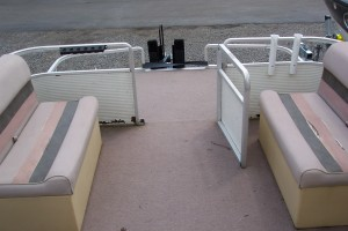 1980 HARRIS 20' PONTOON BOAT MERCURY 4-STROKE 60HP BIGFOOT & 2012 TRAILER