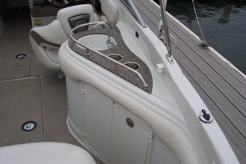 2008 CROWNLINE 252 EX DECK BOAT W/ 5.7L VOLVO GIDP I/O