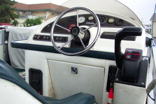 1996 CREST 22' PONTOON BOAT W/ F75 HONDA O/B