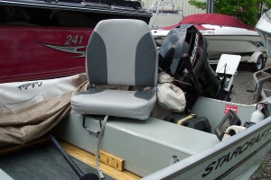 1998 STARCRAFT 14' ALUMINUM PRO-25 FISHING BOAT W/ 2002 MERCURY 25 HP O/B & TRAILER