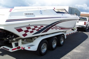 1997 FOUNTAIN 32 FEVER W/ TWIN 500 HP'S & TRAILER
