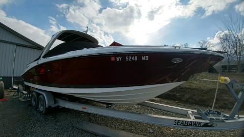 2007 SEA RAY 270 SLX 29' OPEN BOW W/ 496 MPI DTS MERC V8 375 PHP BRAVO III I/O & TANDEM TRAILER