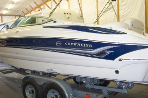 2006 CROWNLINE 240 EX DECK BOAT W/ 350 MAB MPI BRAVO III I/O