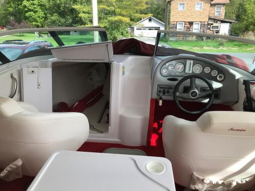 2000 DONZI 22ZX CUDDY CABIN W/ 377 SCORPION MERC V8 BRAVO I I/O W/ CUSTOM EAGLE TRAILER