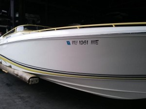 2008 38' FOUNTAIN OFFSHORE PERFORMANCE BOAT W/ TWIN 525 EFI BRAVO I-XR