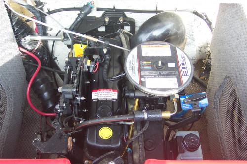 2010 18' EBBTIDE OPEN BOW W/ 3.0L 135 HP 4-CYL MERC I/O