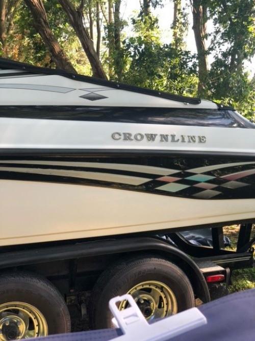 2001 CROWNLINE 202BR W/MERC 5.0L MPI V8 I/O & CUSTOM EAGLE TRAILER